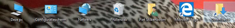 bureaublad-pictogrammen