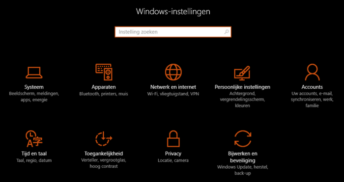 donker thema windows 10
