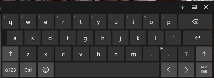 schermtoetsenbord
