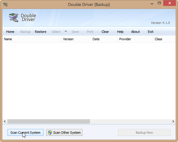 doubledriver scan current system
